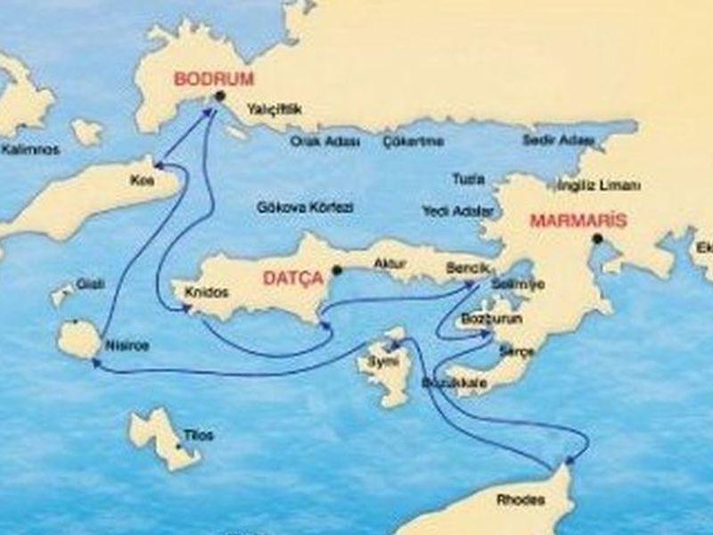 ROUTE: South Dodacanese Islands